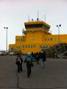 Arriving in Iqaluit from Ottawa.